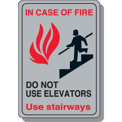Fire Use Stairs Signs