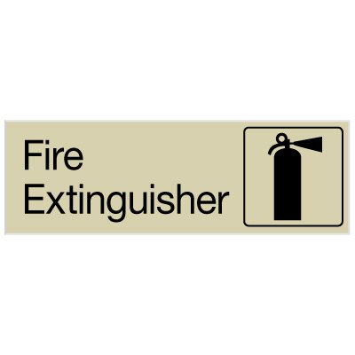 Fire Extinguisher - Engraved Graphic Room Signs