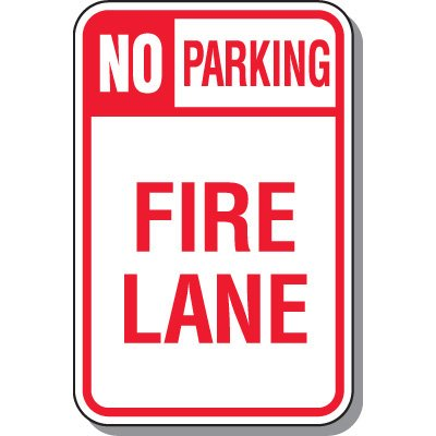 Fire Lane Signs - Fire Lane No Parking