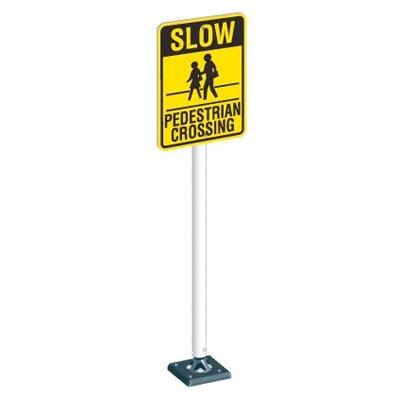 Flex Sign System - Pedestrian Crossing Sign