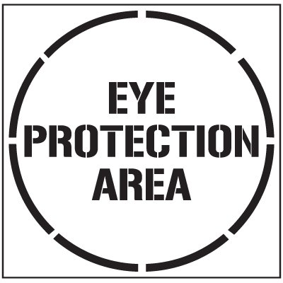 Floor Stencils - Eye Protection Area