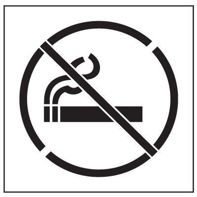Floor Stencils - No Smoking Symbol