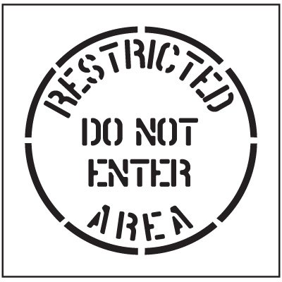 Floor Stencils - Restricted Area Do Not Enter