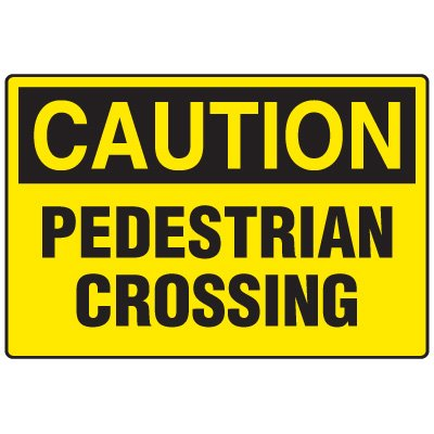 Forklift Safety Signs - Caution Pedestrian Crossing