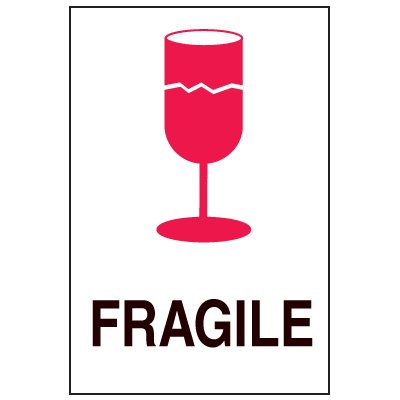 Fragile Labels - Fragile with Graphic