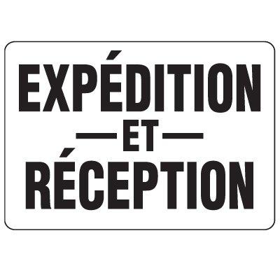 Enseignes de Sécurité - Expedition Et Reception