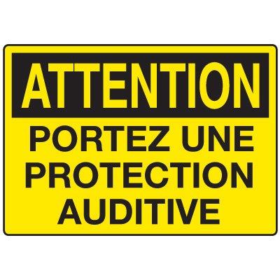 Enseignes de Sécurité - Attention Portez Une Protection Auditive