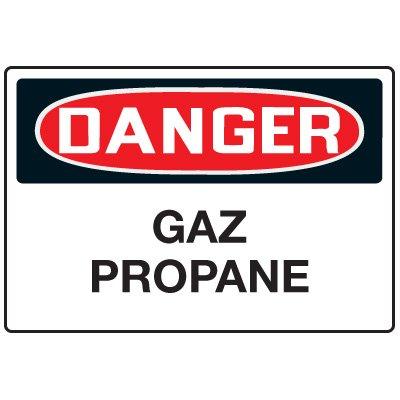 Enseignes de Sécurité - Danger Gaz Propane