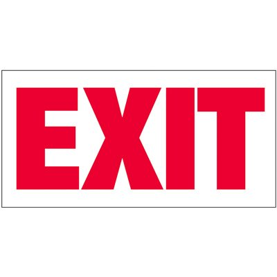 Giant Exit Wall Sign