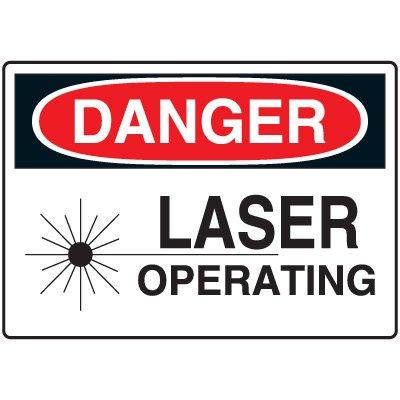 Machine & Operational Signs - Danger Laser Operating
