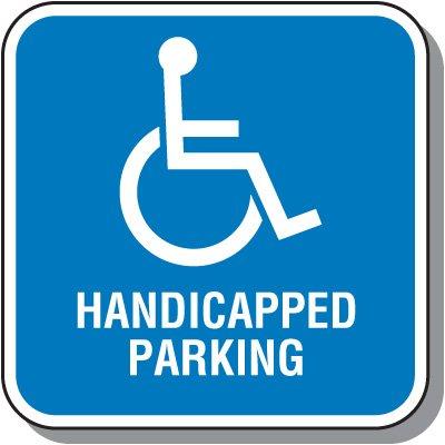 Handicap Signs - Handicapped Parking (Square)