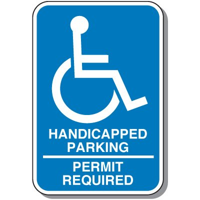 Handicap Signs - Permit Required (Symbol of Access)