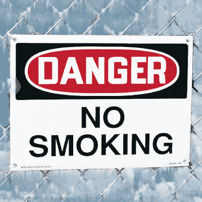 Harsh Condition Safety Signs - No Smoking