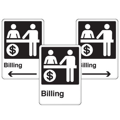 Health Care Facility Wayfinding Signs - Billing