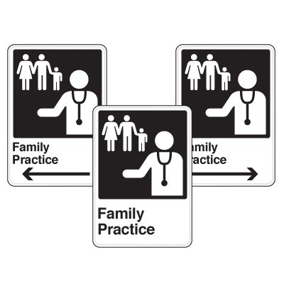 Health Care Facility Wayfinding Signs - Family Practice
