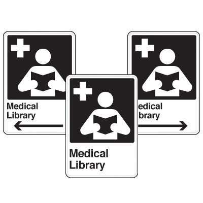 Health Care Facility Wayfinding Signs - Medical Library