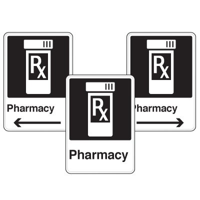 Health Care Facility Wayfinding Signs - Pharmacy