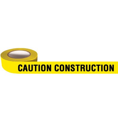 Heavy Duty Barricade Tape - Caution Construction