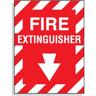 Fiberglass FIRE EXTINGUISHER Sign - 9W X 12H