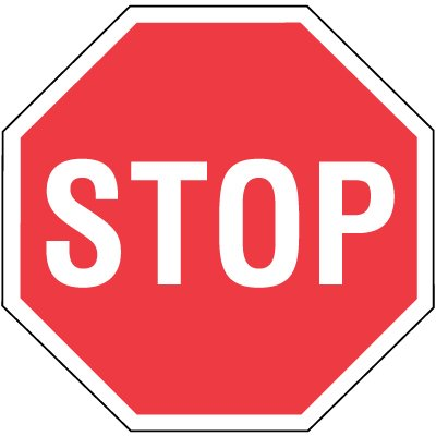 High Visibility Overhead Signs - Stop