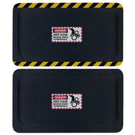 Hog Heaven Safety Message Anti-Fatigue Mats - Danger Keep Machine Clear