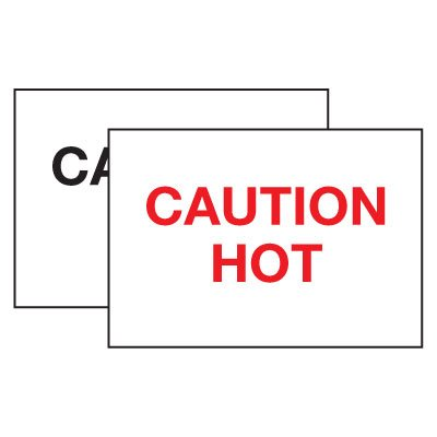Hot Adhesion Labels - Caution Hot