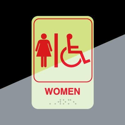 Glow in the Dark Women's Restroom Sign