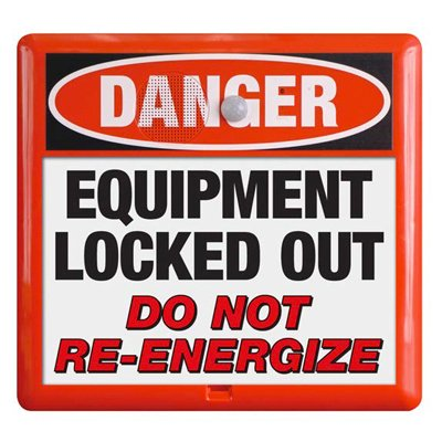 Interactive Sign Insert - Equipment Locked Out