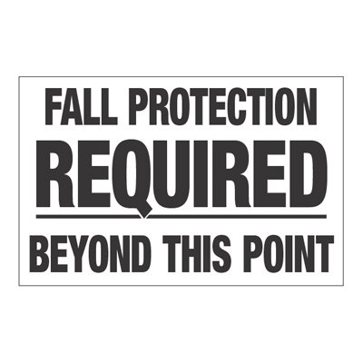 Interactive Sign Insert - Fall Protection Required