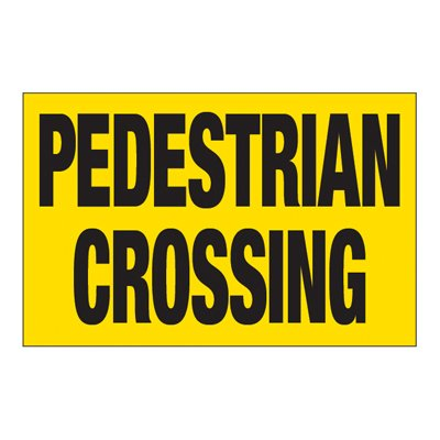 Interactive Sign Insert - Pedestrian Crossing
