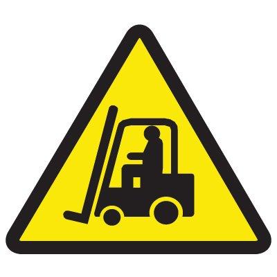 International Symbols Labels - Lift Truck Hazard