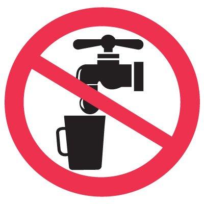 International Symbols Labels - Not Drinking Water