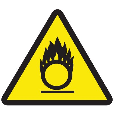 International Symbols Labels - Oxidizing Materials Hazard