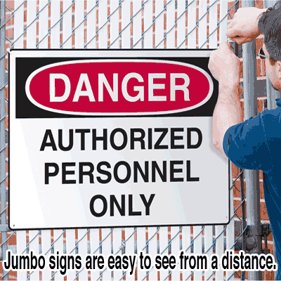 Jumbo Construction Signs - Security Notice - Video Surveillance