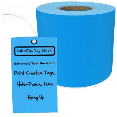 LabelTac® LT207TAG Tear-Resistant Tag Stock - Light Blue