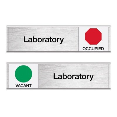 Laboratory-Vacant/Occupied - Engraved Facility Sliders