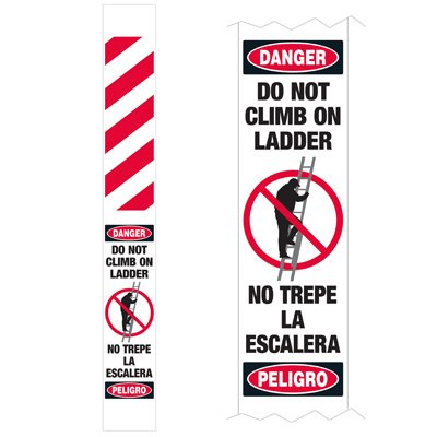 Ladder Guard - Danger Do Not Climb On Ladder Bilingual