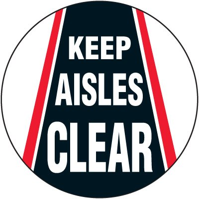 Lexan Heavy Duty Floor Markers- Keep Aisles Clear