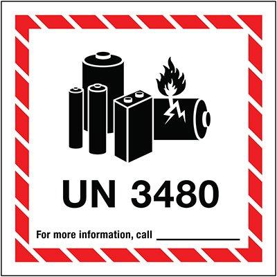Lithium Battery Label UN3480
