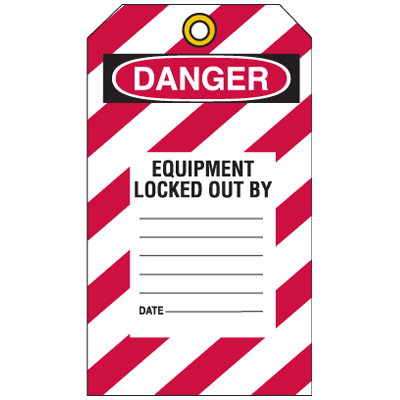 Lockout Tags - Danger This Tag & Lock To Be Removed Only by Person Shown on Back
