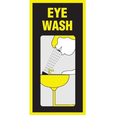 Luminous Eyewash Signs