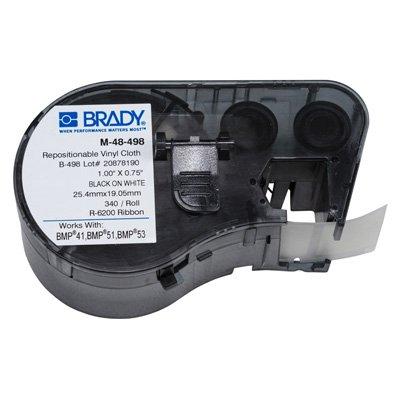 Brady M-48-498 BMP51/BMP41 Label Cartridge - Black on White