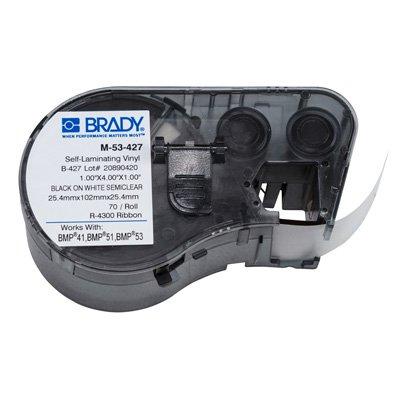 Brady M-53-427 BMP51/BMP41 Label Cartridge - Black on White/Clear