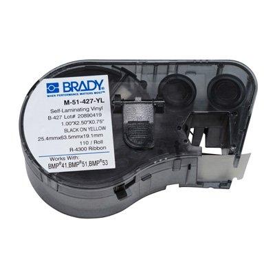 Brady M-51-427-YL BMP51/BMP41 Label Cartridge - Yellow