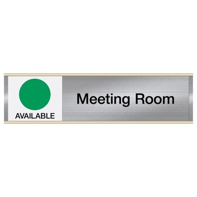 Meeting Room Sign with Engraved Sliders