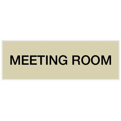 Meeting Room - Engraved Standard Worded Signs