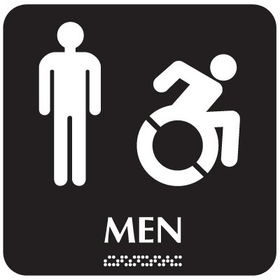 Men (Dynamic Accessibility) - Optima ADA Restroom Signs