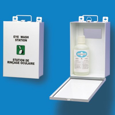 Metal Eye Wash Station Cabinet With Eye Wash Solution