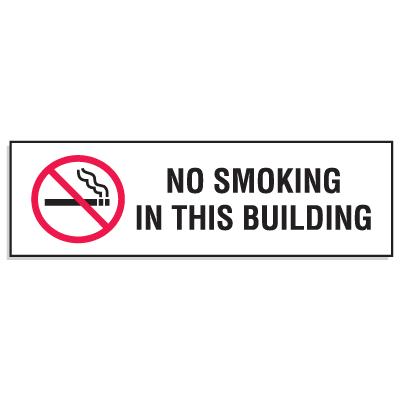 Mini No Smoking Signs - 3W x 10H No Smoking In This Building
