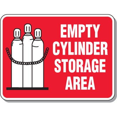 Cylinder Mining Signs - Empty Cylinder Storage Area